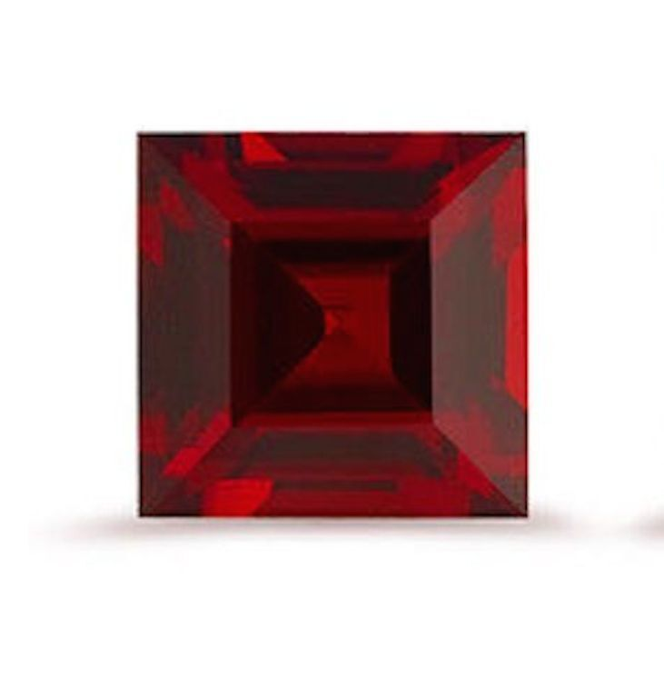 Natural Mozambique (Red) Garnet AAA Square Step-Cut (2x2mm - 9x9mm) Loose Stones