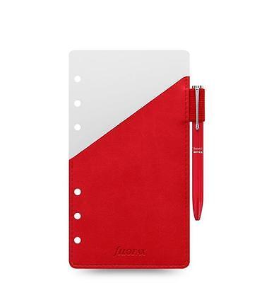 Filofax Organizer Personal Pen Holder Red With Red Filofax Pen - 131002