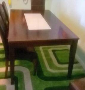 6 Seat Hardwood Dining Table + 3 Chairs Westmead Parramatta Area Preview