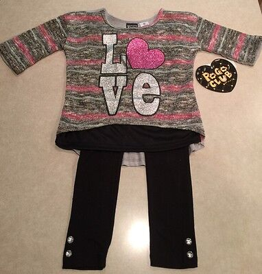 Pogo Club Girls Sweater Legging Set  Size S  4
