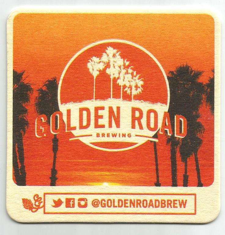 16 Golden Road Brewing 329 Days Of Sun Lager   Beer Coasters