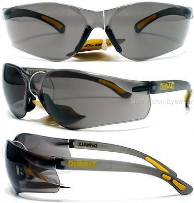 Lot Of 3 Pair Dewalt Contractor Smoke Lens Safety Glasses Sunglasses Z87.1