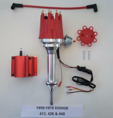 small cap 1959-78 DODGE BIG BLOCK 413 426 440 RED HEI Distributor + RED 50k Coil