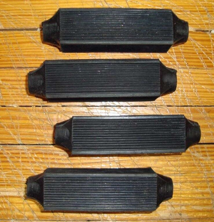 antique Torrington BLACK #10 bicycle PEDAL BLOCKS set of 4!