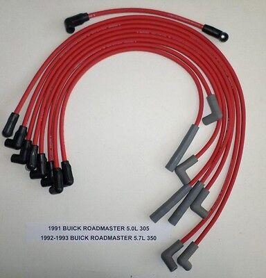 Buick Roadmaster Spark Plug - BUICK ROADMASTER 1991-1993 5.0L/305 & 5.7L/350 RED HI-PERFORM Spark Plug Wires
