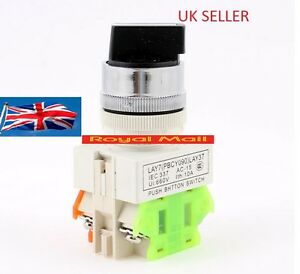 ON/OFF/ON Rotary Three Position Selector Switch UK SELLER VAT INVOICE #S14