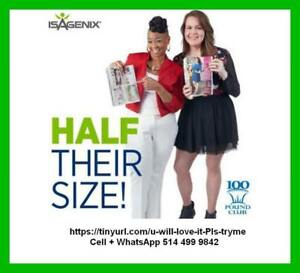 Isagenix 100-Pound Club Members featured in PEOPLEs Half Their Size issue CREDIT Isagenix for a body transformation