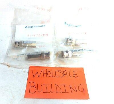 Amphenol  Bnc Coaxial Connector  31 5136 Rfx  50Ohm  500V  Lot Of 4