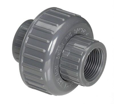 1 Fpt Sch 80 Pvc Union Threaded Grey Coupling 858-010