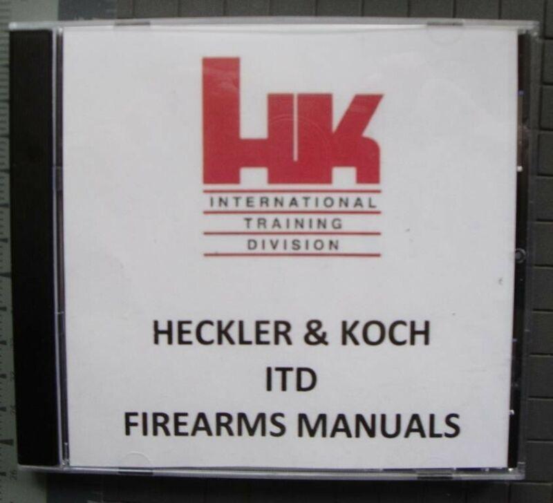Heckler & Koch ITD (International Training Division) FIREARMS MANUALS HK H&K