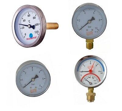 Meter Thermometer (Manometer Thermomanometer Thermometer Axial Radial in Verschiedenen Bars)