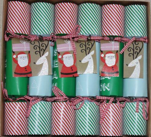 Meri Meri Santa & Reindeer Christmas Crackers - Set of 6