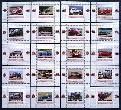 Österreich Satz von 20 Marken / Blocks Auto Cars ** Mercedes, BMW, VW etc.