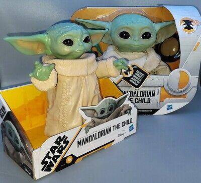 """(2) Star Wars 7 1/2"""" Mandalorian The Child Talking Plush & The Child 8"""" Posable"""