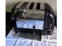 DUALIT COMBI 2 + 1 toaster + Toast Rack Cage Chrome + Black- VGC LONDON London