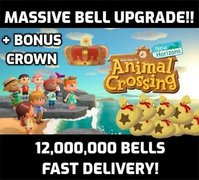 Switch Animal Crossing New Horizons 💰 12 MILLION BELLS 💰 Bell Upgrade FAST+ 👑