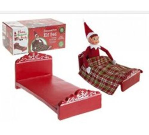 CHRISTMAS+DECORATIVE+POLYSTONE+%22ELF+BED%22+with+COVER+-+Approx%3A+25x12.5x10cm