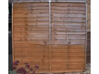 Two traditional overlap fence panels.