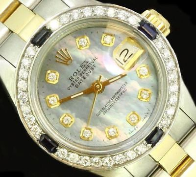 Rolex Ladies Datejust Oyster Stainless Gold Diamond Dial Bezel Luxury Watch for sale  Shipping to Canada