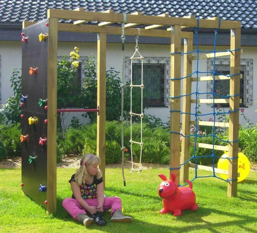 XXL Multispielanlage für Kinder Klettergerüst Kletterturm Kletterwand 2,40x1,20m
