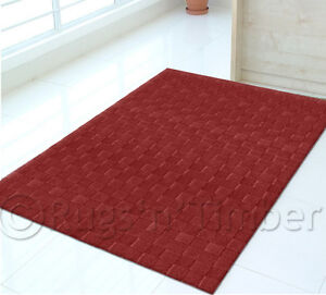 MODERN THICK NZ WOOL RED FLOOR RUG 160x230 RRP$1000!