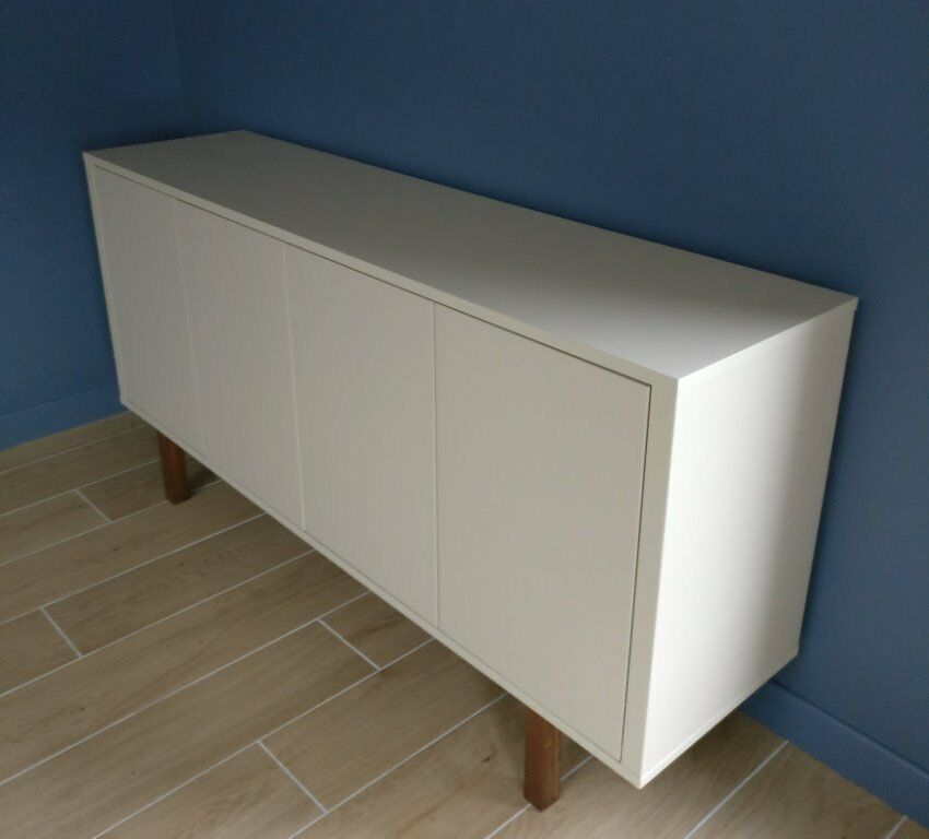 ikea stockholm sideboard beige in colour with walnut legs and interior in angus gumtree. Black Bedroom Furniture Sets. Home Design Ideas