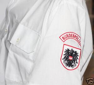 Original Bundespolizei Österreich burg vienna Uniformhemd Hemd kurzarm weiß 45