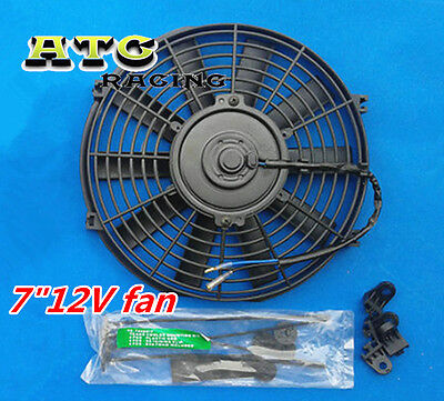 "UNIVERSAL 7"" PUSH/PULL SLIM ELECTRIC RADIATOR ENGINE BAY COOLING FAN 7 INCH 12V"