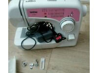Brother elictric sewing machine complete with foot peddale