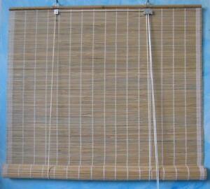 Arella in bamboo tenda in canna fine con carrucola 1x2 - Tende in bambu per esterni obi ...