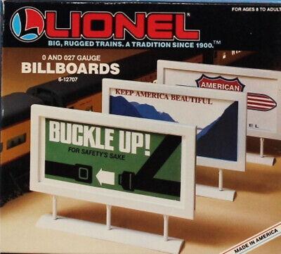 Lionel O Gauge Vintage Advertising Billboards 3 Pcs #6-12707