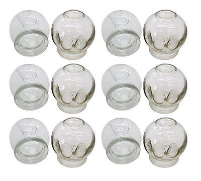 Schröpfgläser aus Glas | Feuer Schröpfen | 6er Set | Ø ca. 5,0 cm
