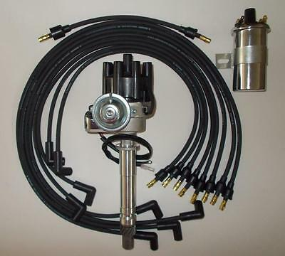 chevy 350 black female small cap hei distributor 45k coil wires item information