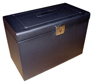 A4 Lockable Metal File Box - **5 Free Suspension Files** Home Storage