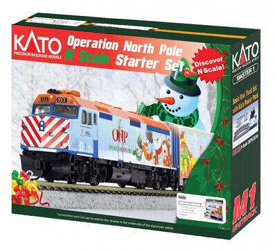 Kato 106-0045 N 2017 Operation North Pole Christmas Train Starter Set