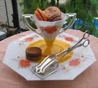 assiette à gâteau vintage et argenterie