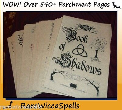Clearance Priced Spell Book of Shadows 540 Parch Pgs Spells Rituals Wicca Pagan