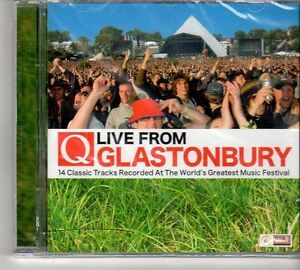 (FD608) Live From Glastonbury, 14 tracks various artists - sealed Q Magazine CD