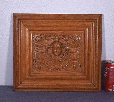*Vintage French Carved Oak Wood Panel w/Angels or Cherubs (6 AVAILABLE)