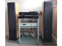 HIFI SYSTEM MARANTZ CD PLAYER, ACOUSTIC SOLUTIONS, PRO-JECT 7 AMP, ACOUSTIC ENERGY AEGIS 3 SPEAKERS