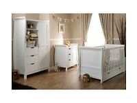 Lincoln Sleigh 3 Piece Nursery Furniture Set - Open to offers