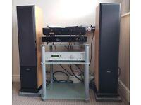 HIFI SYSTEM MARANTZ CD PLAYER, PRO-JECT 7 AMP, ACOUSTIC SOLUTIONS, ACOUSTIC ENERGY AEGIS 3 SPEAKERS
