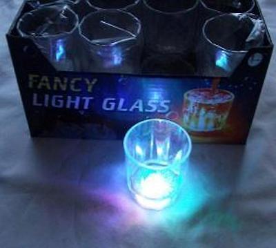 12 pieces Multi Color Flashing LED Light Fancy Shot Glasses Party Barware Supply - Flashing Shot Glasses