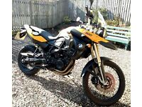 BMW F800GS a mid class adventurer tourer in immaculate condition
