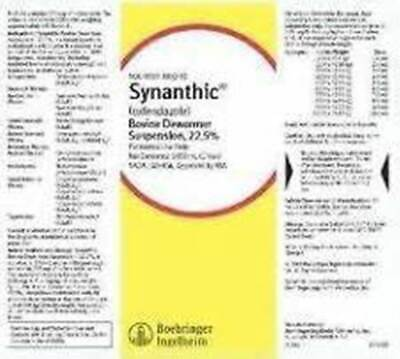 Synanthic Drench Wormer Cattle Sheep Parasite 500ml Dewormer Suspension 22.5