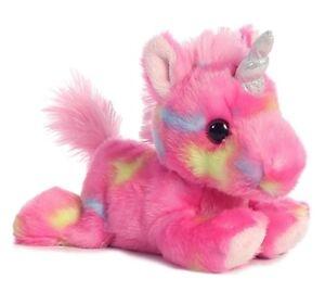7 Inch Jellyroll Pink Unicorn Plush Stuffed Animal by Aurora