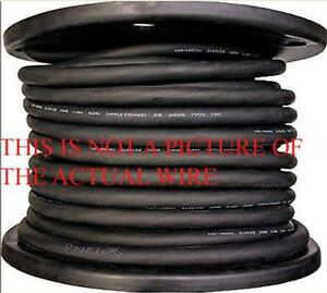 NEW 50' 18/2 SJ SJO SJOOW  SJOW BLACK RUBBER CORD EXTENSION WIRE