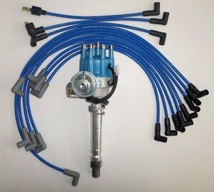 small block chevy blue small hei distributor spark wires valve cover ebay