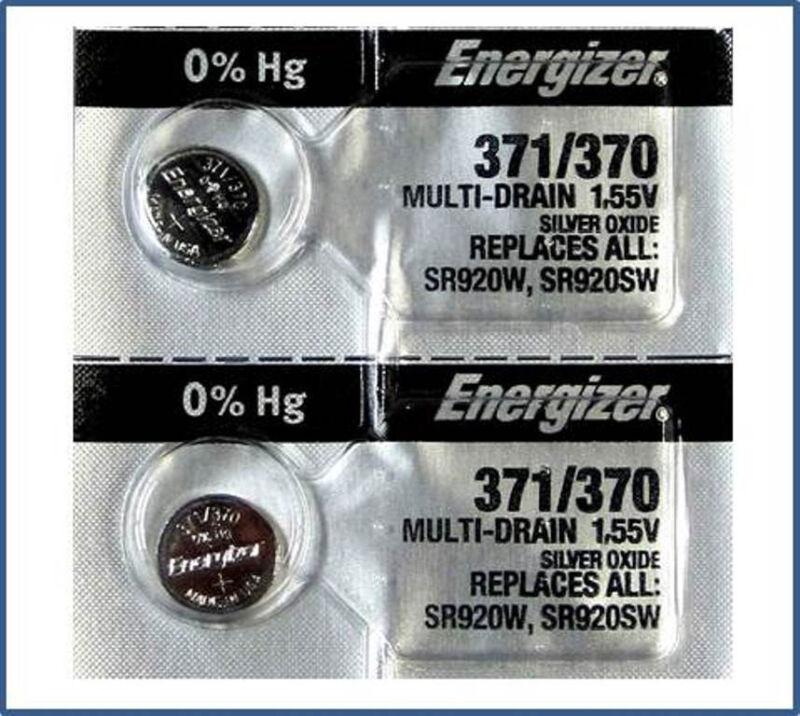 371 370 SR920W SR920SW Energizer Button Cell Watch Batteries 2 Pcs