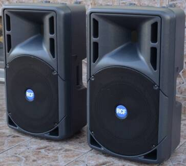 Hire : 2 x RCF 332a - $80 speakers sound system for dj, band